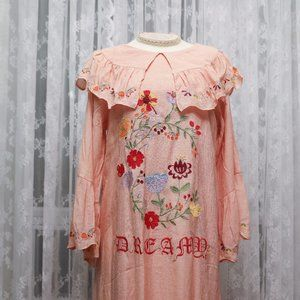 Dear Chestnut - Floral Embroidered Vacation Dress
